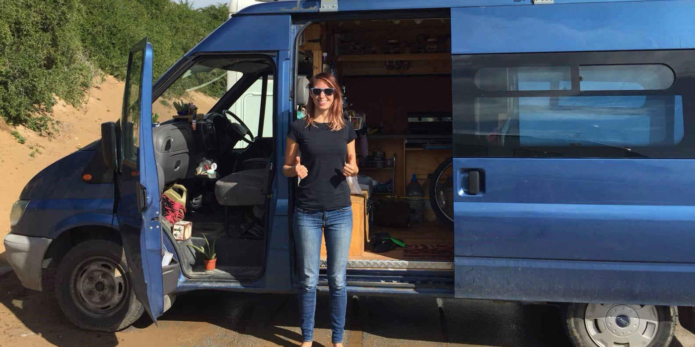 Izzy and her ford transit home on wheels