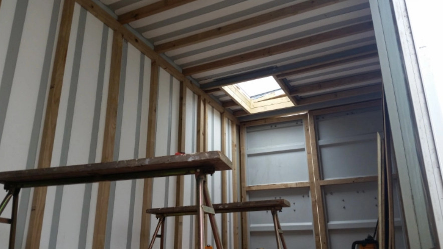 Building A Container Home Part 3 Framing And